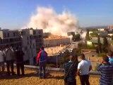 Destruction de la tour H au Petit-Bard à Montpellier