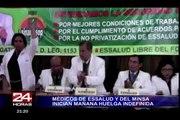 Médicos del Minsa y Essalud inician hoy una huelga nacional indefinida
