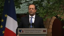 Discours du président de la République devant la communauté française à Erevan