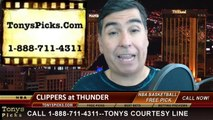 Oklahoma City Thunder vs. LA Clippers Game 5 Odds Pick Prediction NBA Playoff Preview 5-13-2014