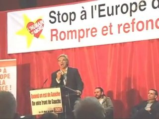 PATRICK LE HYARIC : EUROPEENNE, MEETING FRONT DE GAUCHE A GRIGNY