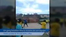 Au Brésil, un club amateur fête une victoire à coups de AK47