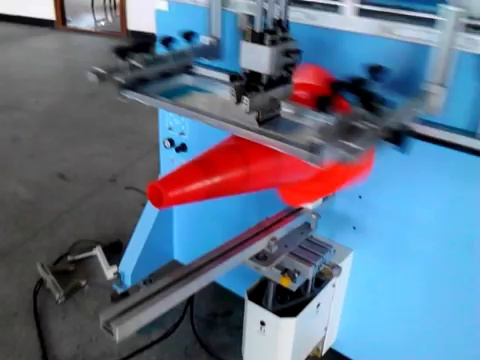 Large Container Screen Printer Cone Screen Printing Machine