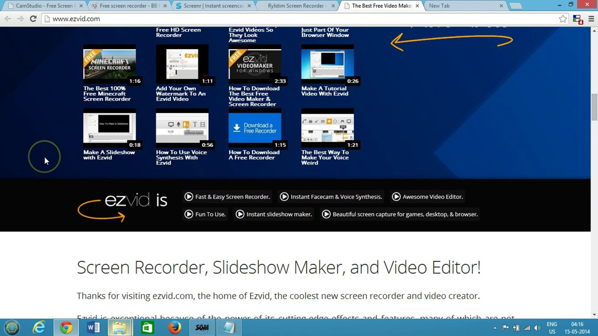 Top 5 Free Best Screen Recording Software for Windows