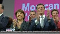 Européennes : à Lille, Martine Aubry et Manuel Valls côte à côte