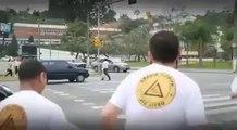 car blocking zebra crossing