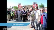 Saint-Cyr-l'Ecole : manifestation contre les nuisances des avions.