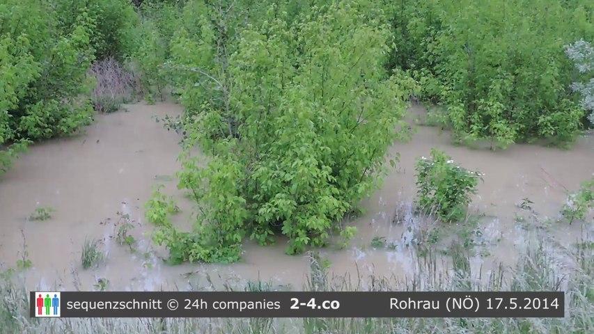 Hochwasser der Leitha in Rohrau (NÖ) - HD