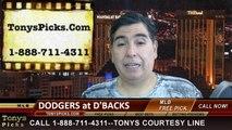 MLB Odds Arizona Diamondbacks vs. LA Dodgers Pick Prediction Preview 5-18-2014