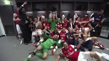 Arsenal- FA Cup final dressing room celebrations