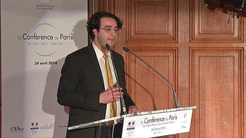 """Hicham Oudghiri , """"Public Data Infrastructure"""" à la Conférence de Paris"""