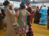 Feria de Jerez 2014 con Maria y Hugo, bailando rumbas con Maria madre y Yoli