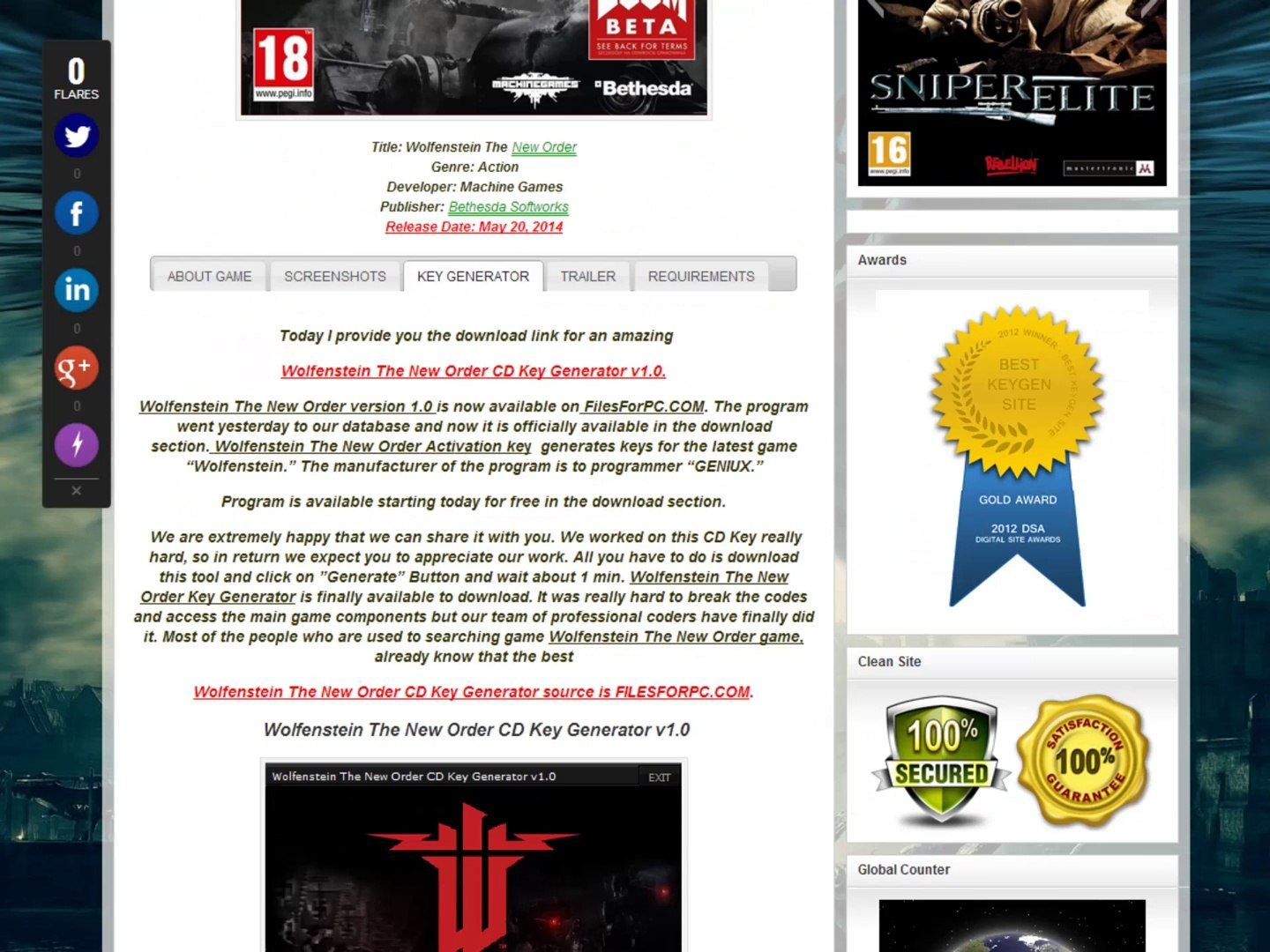 Free Download Wolfenstein The New Order Cd Key Generator Video Dailymotion