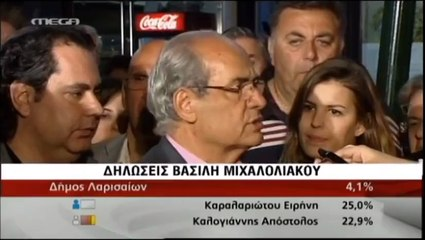 pagritianews.gr Εκλογές 2014- Δηλώσεις Βασίλη Μιχαλολιάκου