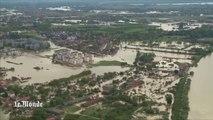 Les inondations des Balkans vues du ciel