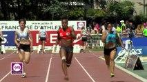 Finale F 100 m (Victoire de Stella Akakpo en 11''46)