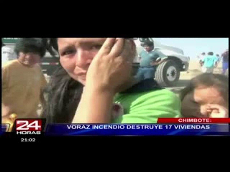 Tratan de apagar voraz incendio con globos de agua en Cajarmaca (2/3)