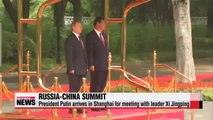 Russian Pres. Putin arrives in Shanghai for summit