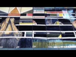 Le plongeon du monde (carrelages)