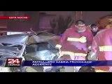 VIDEO: accidente de tránsito en la Victoria es provocado por vehículo de la PNP