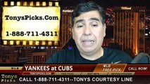 MLB Pick Chicago Cubs vs. New York Yankees Odds Prediction Preview 5-21-2014