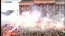 Huldiging FC Groningen: Grote Markt vol rook - RTV Noord