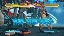 Street Fighter X Tekken. Guile and Zangief vs Paul and Jin