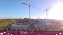 Time lapse - chantier du Théâtre-Sénart - part 1