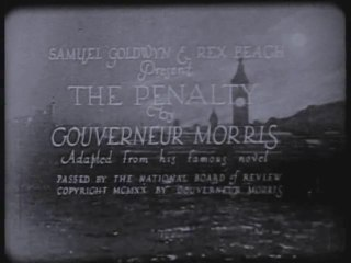 The Penalty (1920) Lon Chaney