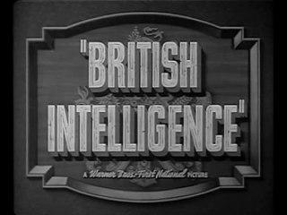 British Intelligence (1940) Boris Karloff