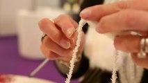 Une boule de neige en tricot pour décorer votre sapin