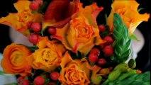 Créer une composition florale orange