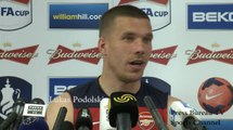 Lukas Poldolski FA Cup Press Conference - German