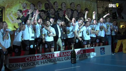 handball: remise trophée de champion de France à l'USDK