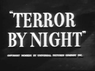 Terror By Night (1946) Basil Rathbone