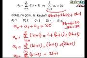 Toplam Sembolü soru çözümleri 11. sınıf matematik örnekleri
