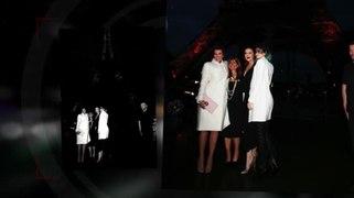 Los Kardashians visitaron la Torre Eiffel y montaron en un C
