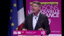 Intervention de Vincent Peillon au meeting européen de Lyon
