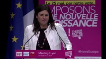 Intervention de Virginie Rozière au meeting européen de Lyon