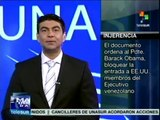 Senado de EE.UU. aprueba sancionar a funcionarios de Venezuela
