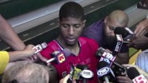 Paul George on Concussion & Game 3 Status   May 23, 2014   Pacers vs Heat   NBA Playoffs 2014