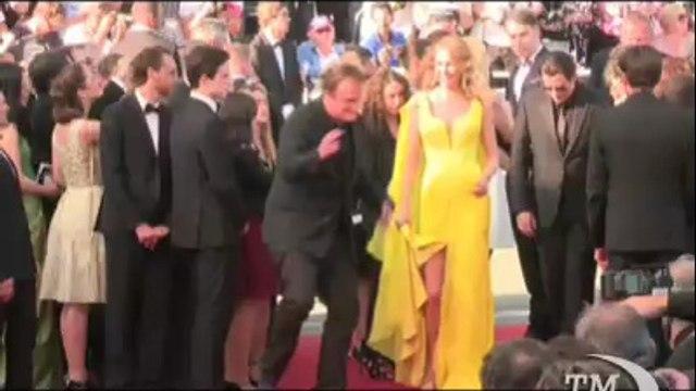 Quentin Tarantino a Cannes rende omaggio agli spaghetti western. Il regista torna 20 anni dopo la Palma d'oro a Pulp fiction