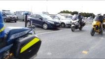 Session de formation des motards avec la gendarmerie et la police