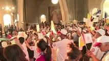 El Papa con los refugiados sirios