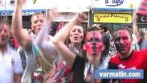 Les supporters toulonnais en folie après la victoire du RCT