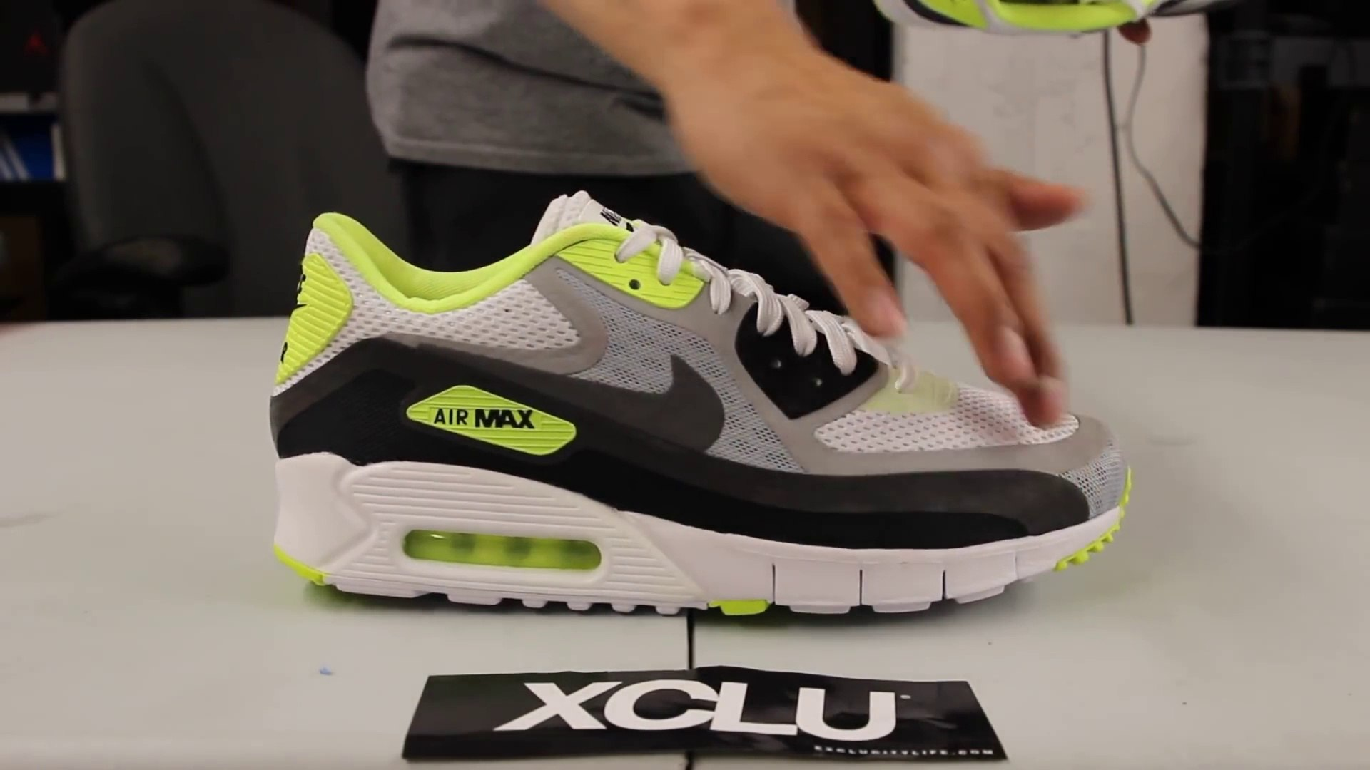 wombazaar Nike Air Max 90 Breath Volt Unboxing Video at Exclucity