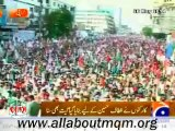 "MQM workers, supporters and people of Karachi listening ""Tajdeed-e-Ehd-e-Wafa"" song in MQM solidarity rally for Altaf Hussain"