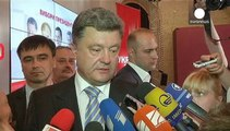 Ukrainian billionaire, Petro Poroshenko claims victory in presidential election