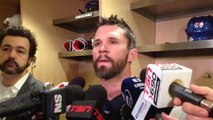 Martin St. Louis after Rangers morning skate May 25, 2014