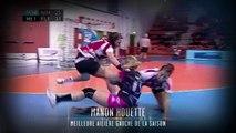 Manon Houette élue meilleure ailière gauche (Nuit du Handball 2014)